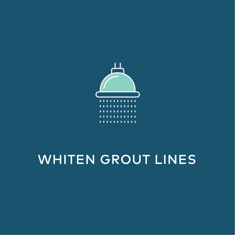 bathroom cleaning whiten grout lines