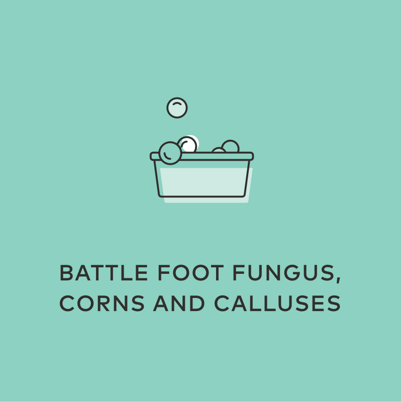 Battle Foot Fungus, Corns And Calluses