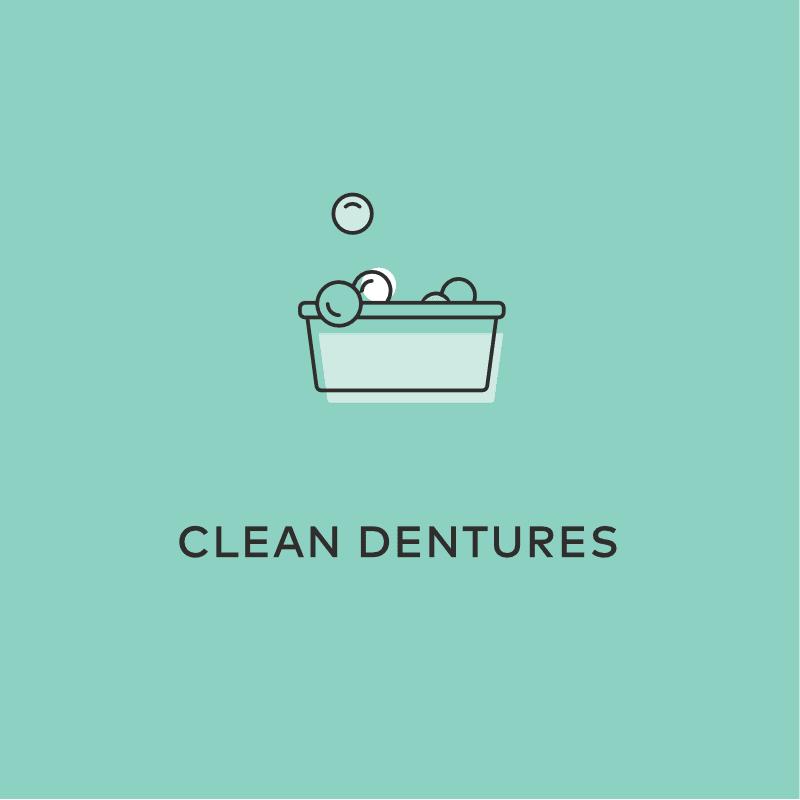 Clean Dentures