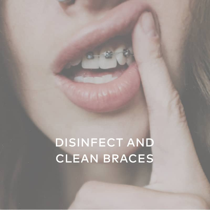 disinfect clean braces hydrogen peroxide