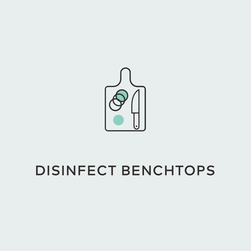 disinfect benchtops hydrogen peroxide