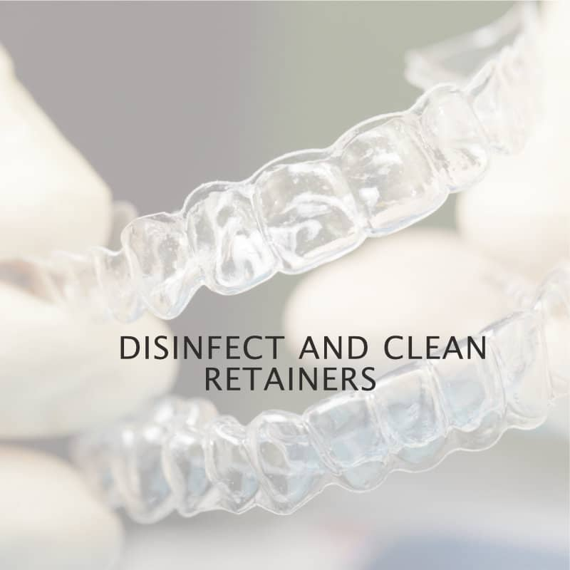 disinfect-clean retainers use h2o2