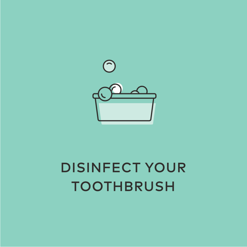 disinfect toothbrush hydrogen peroxide