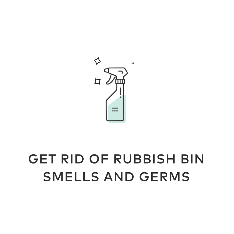 get rid of rubbish bin smells germs h2o2 uses