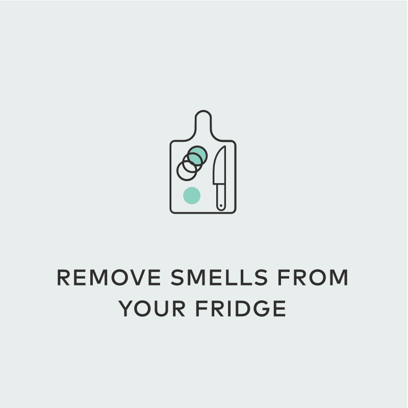 hydrogen peroxide remove smell from fridge