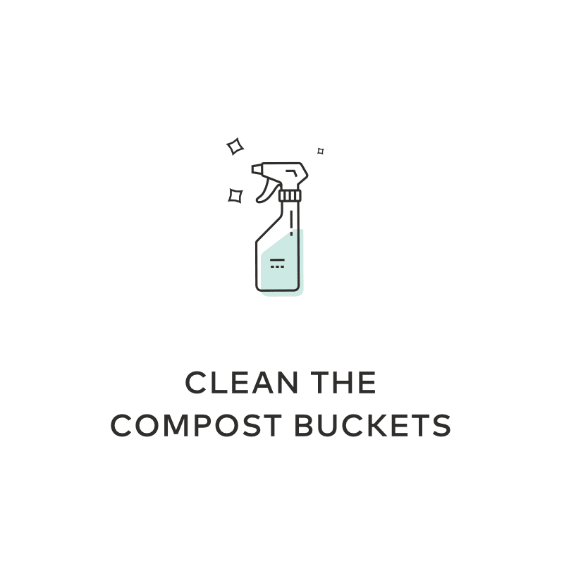 Clean The Compost Bucket