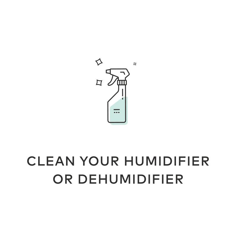 hyrdogen peroxide clean de humidifier
