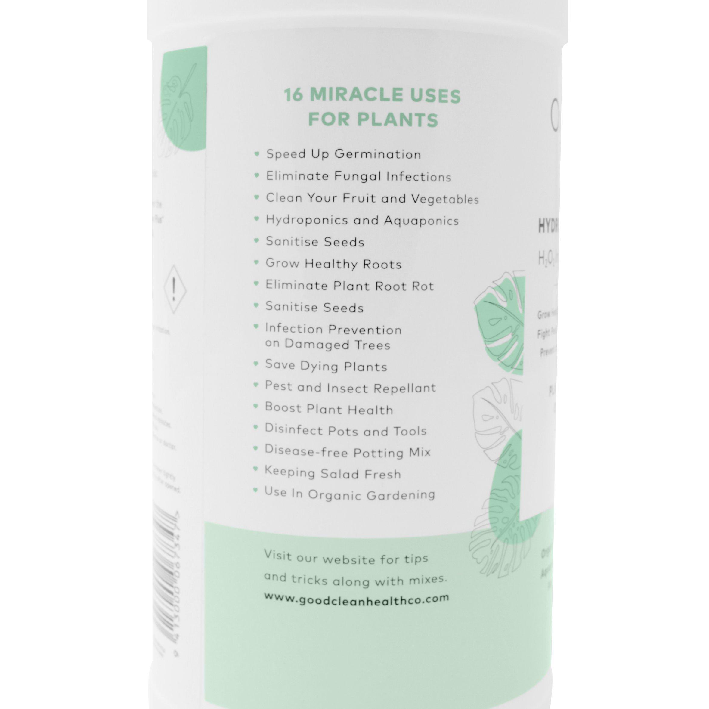 Hyrdrogen Peroxide 3% Plants Uses