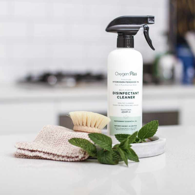 Multi Purpose Cleaner Disinfectant Hydrogen Peroxide Spray Peppermint