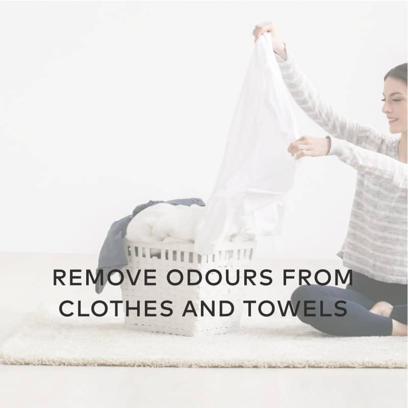 remove smell from cloth towels using hydrogen peroxide