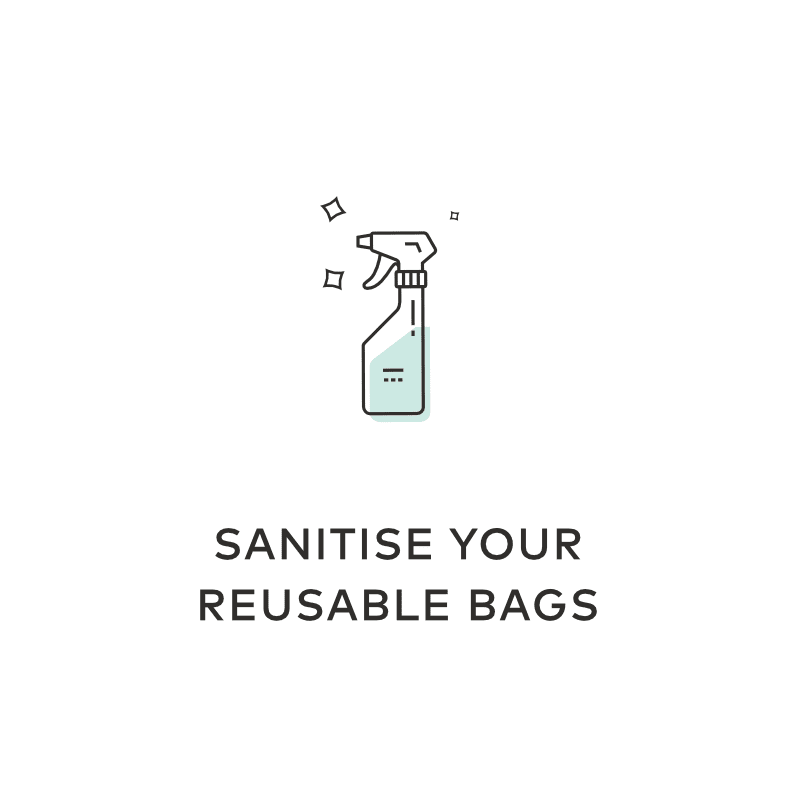 Sanitise Reusable Bags