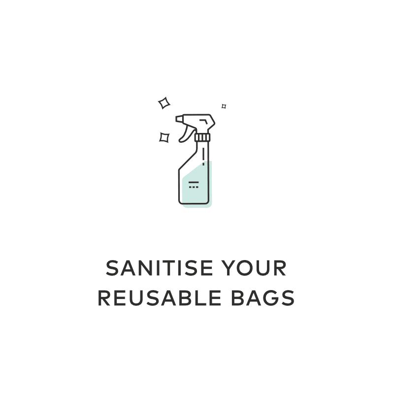 sanitise reusable bags