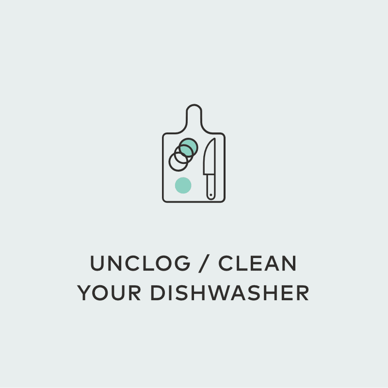 unclog clean dishwasher oxygen plus